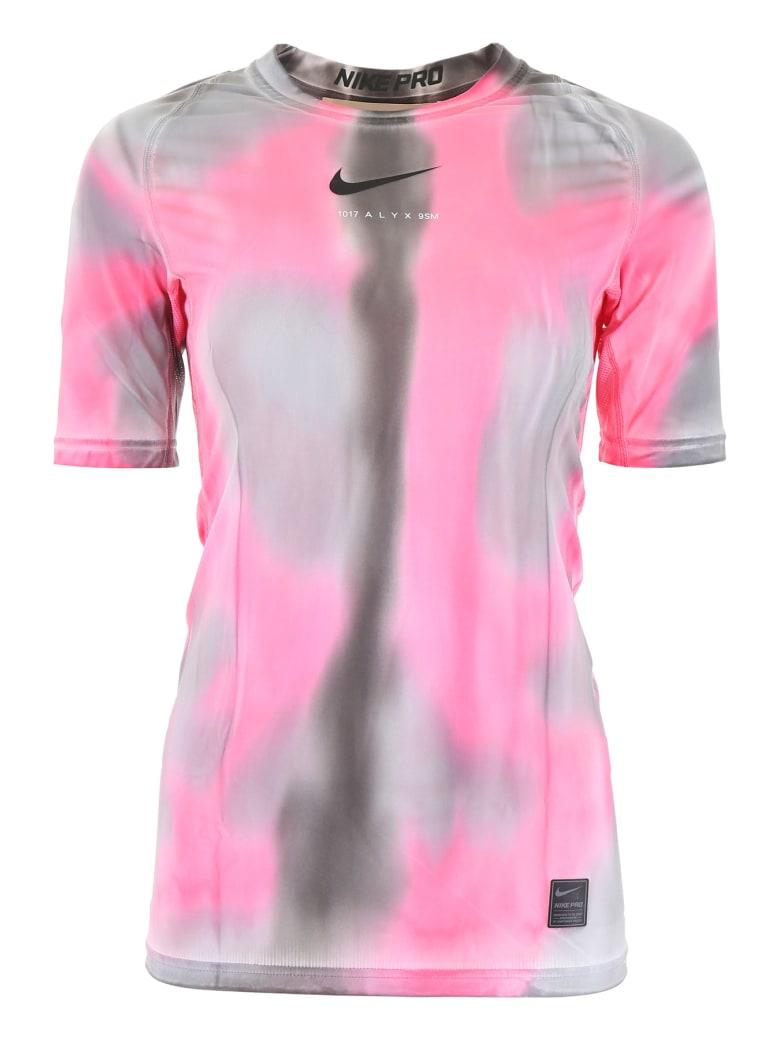 Alyx Nike Logo T-shirt - PINK CAMO (Grey)