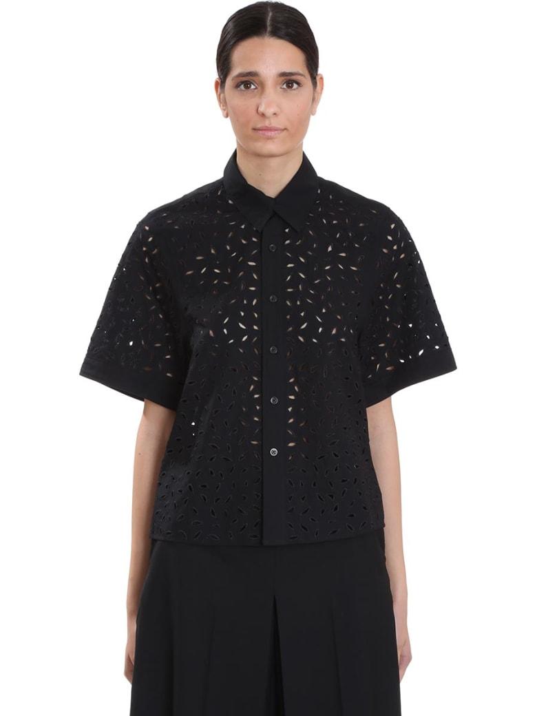 Ami Alexandre Mattiussi Shirt In Black Cotton - black