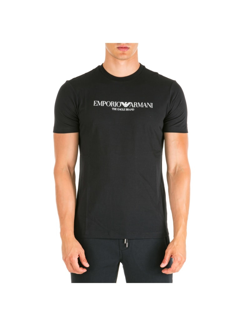 Emporio Armani  Short Sleeve T-shirt Crew Neckline Jumper - Nero