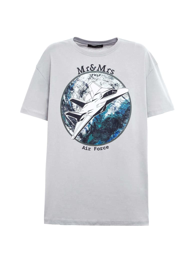 Mr & Mrs Italy Space-inspired Oversized T-shirt For Man - STONE GREY