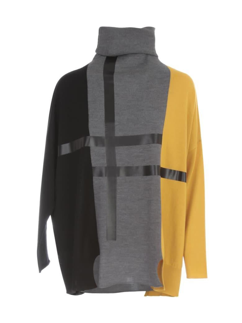 PierAntonioGaspari Turtle Neck L/s Sweater Tricolour - Mimosa Nero