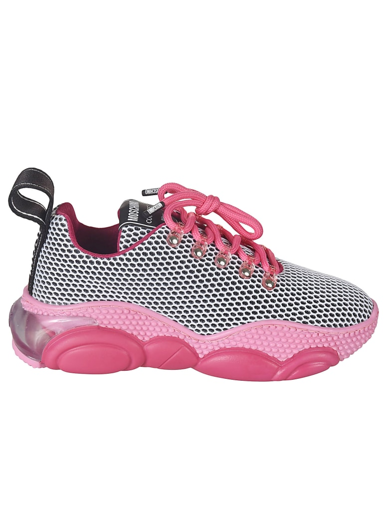 Moschino Laced Mesh Sneakers - Fuchsia