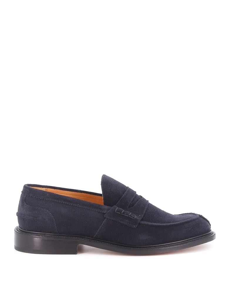 Tricker's James Penny Loafer Suede - Oceano