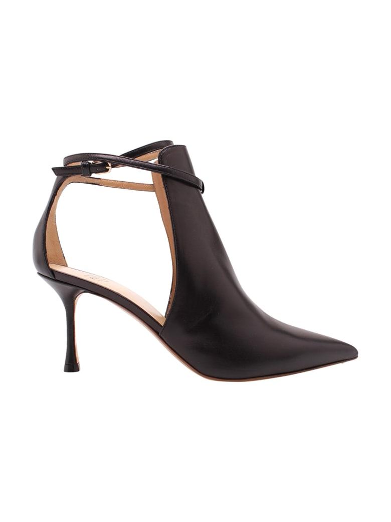 Francesco Russo Leather Pumps - Black