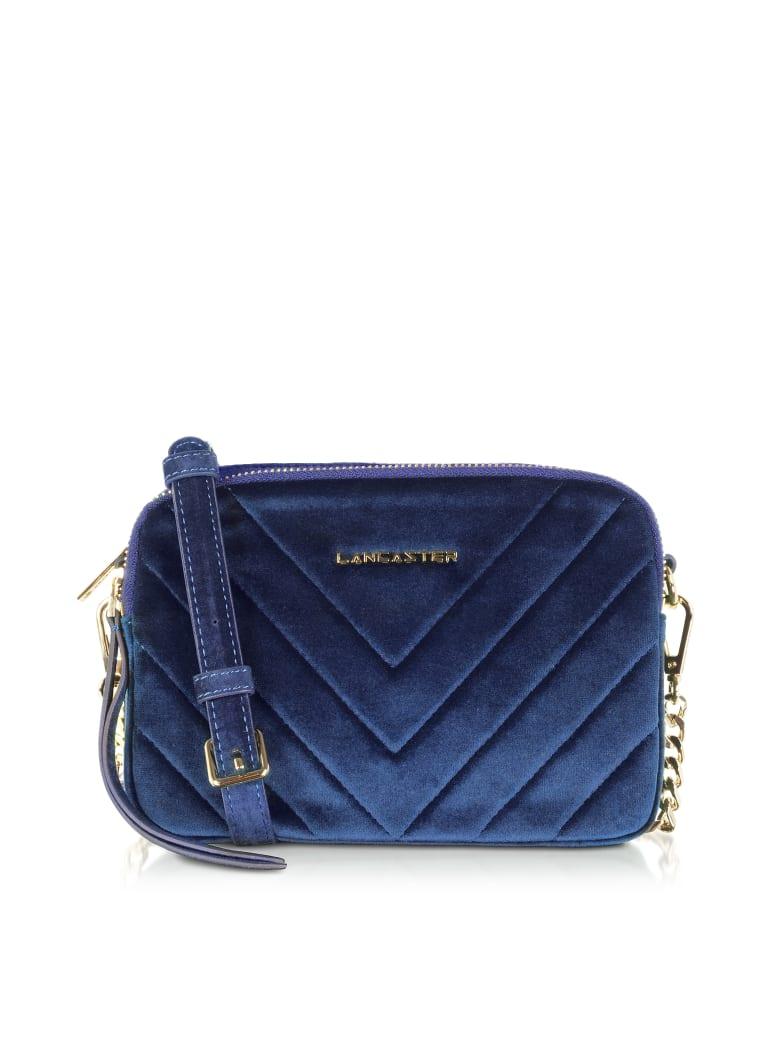 Lancaster Paris Quilted Velvet Couture Camera Bag - Blue