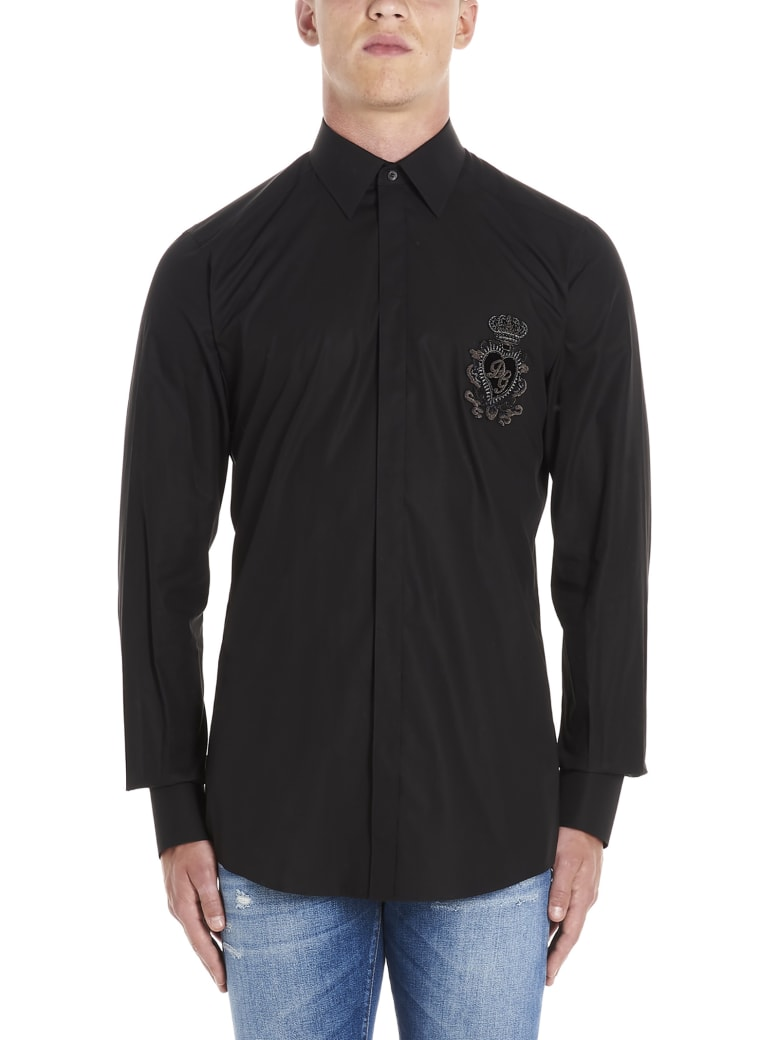 Dolce & Gabbana 'cuore Sacro' Shirt - Black