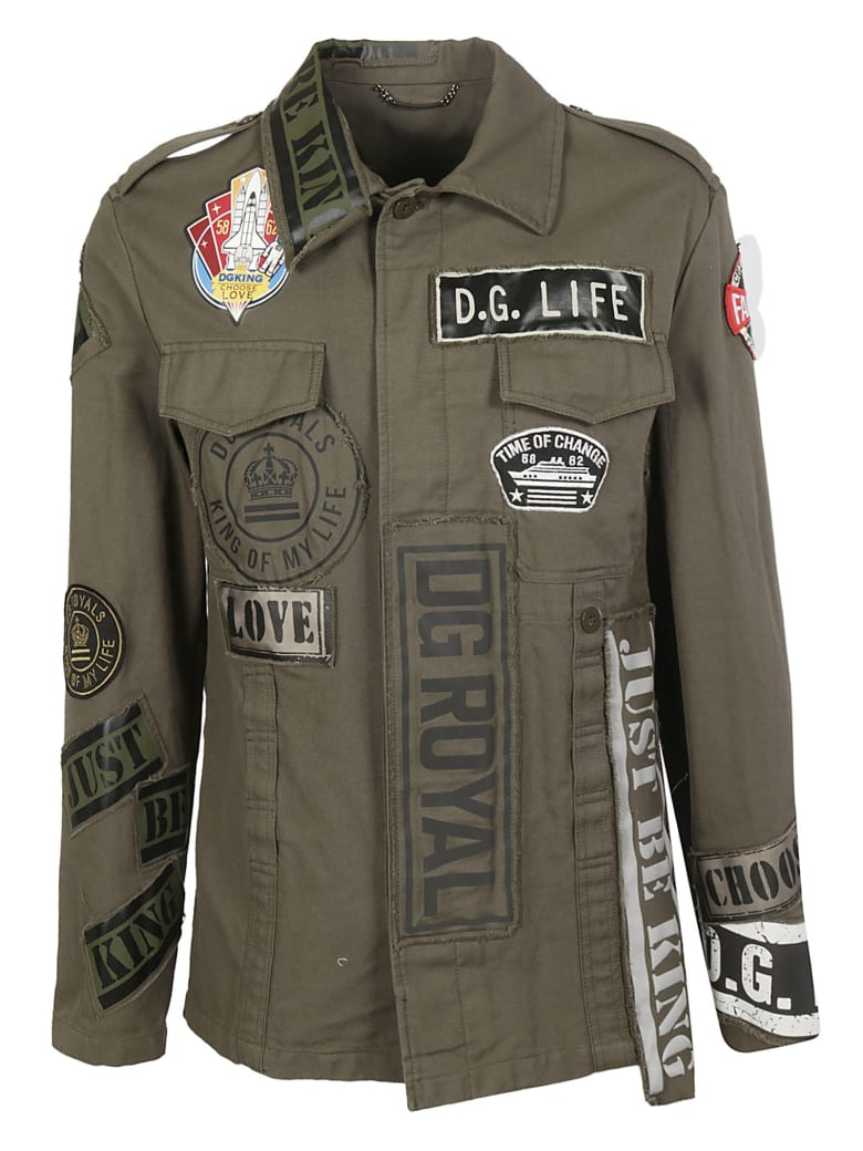 Dolce & Gabbana Patched Jacket - GREEN