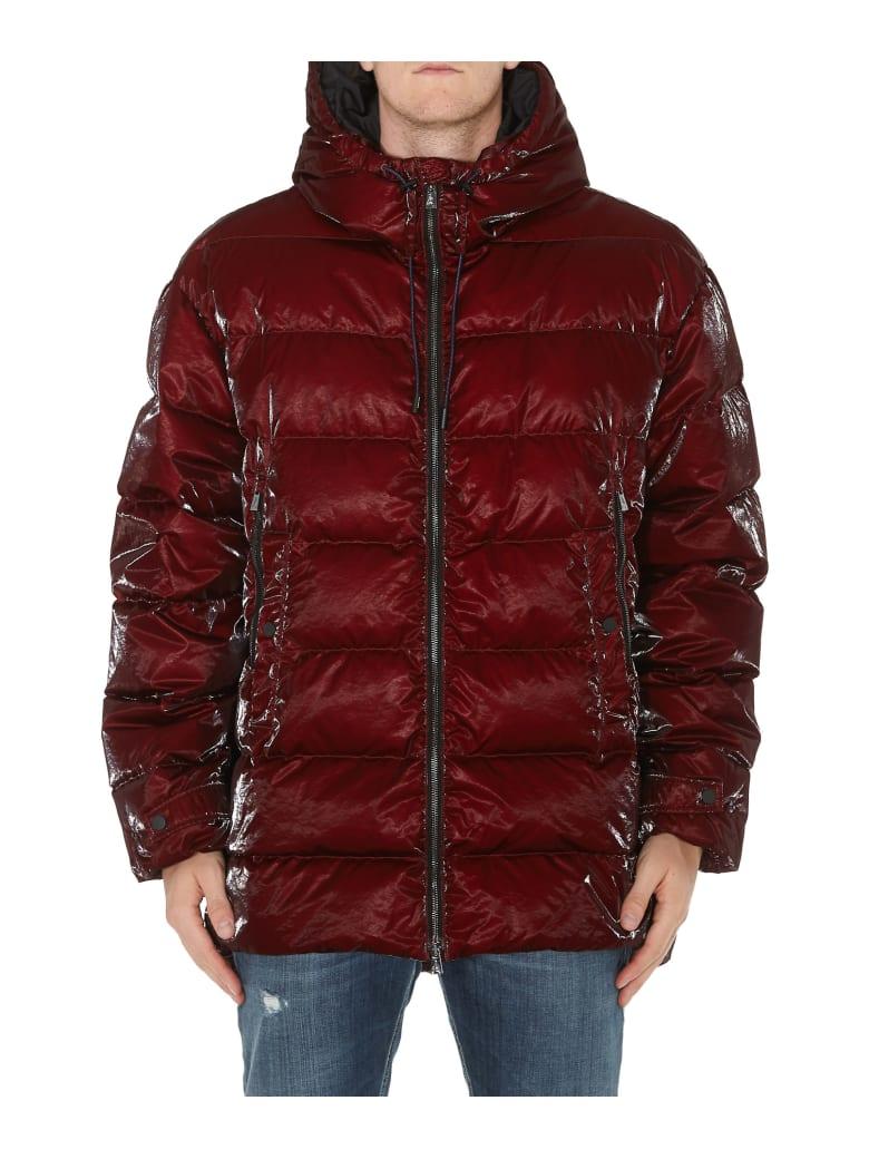Ahirain Hoodie Jacket Gloss Rain Down Jacket - Bordeaux