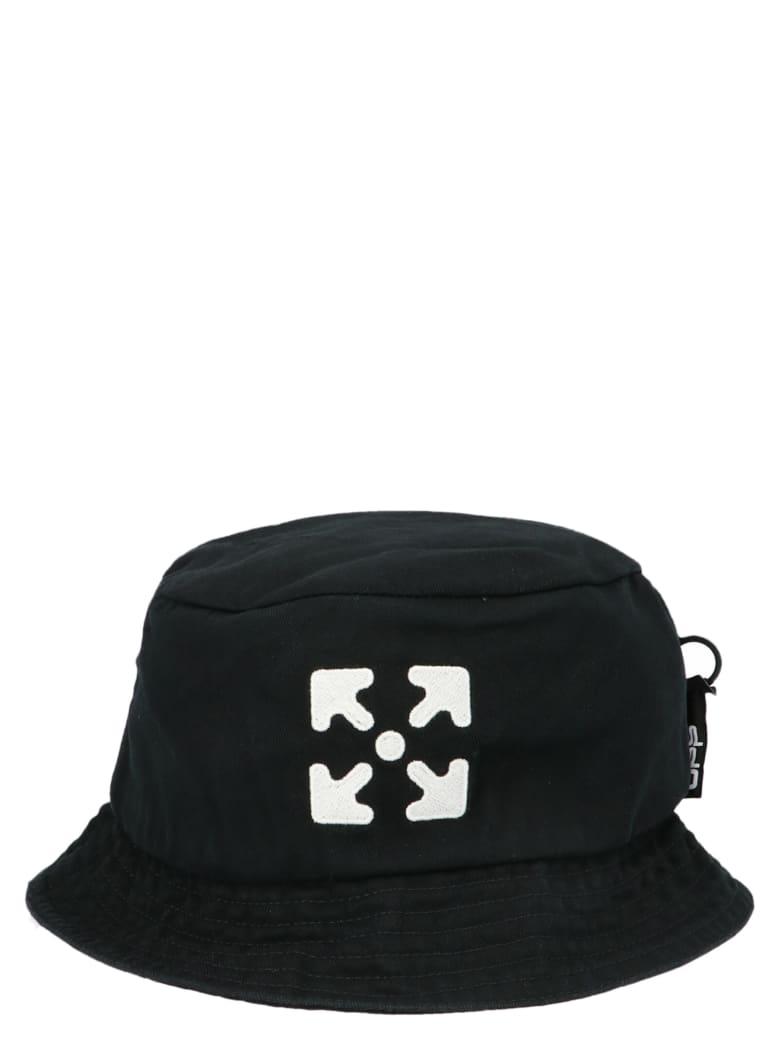 Off-White 'diagonal' Bucket Hat - Black