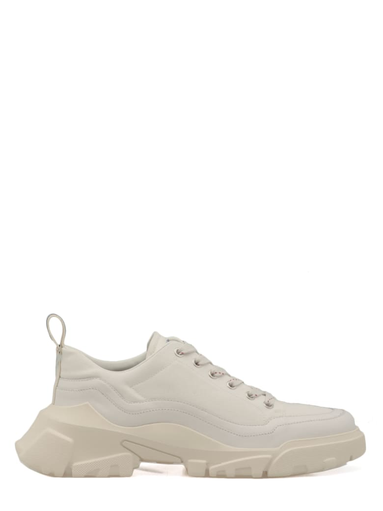 McQ Alexander McQueen Leather And Canvas Mcq Sneaker - OFF WHITE