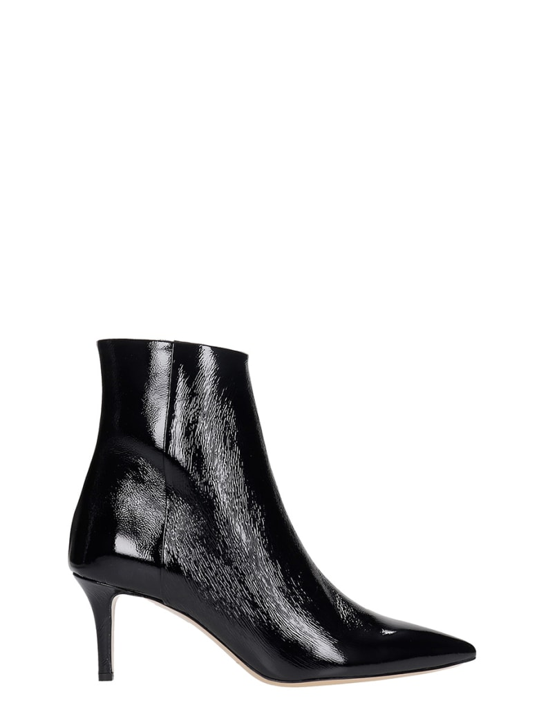 Fabio Rusconi High Heels Ankle Boots In Black Patent Leather - black