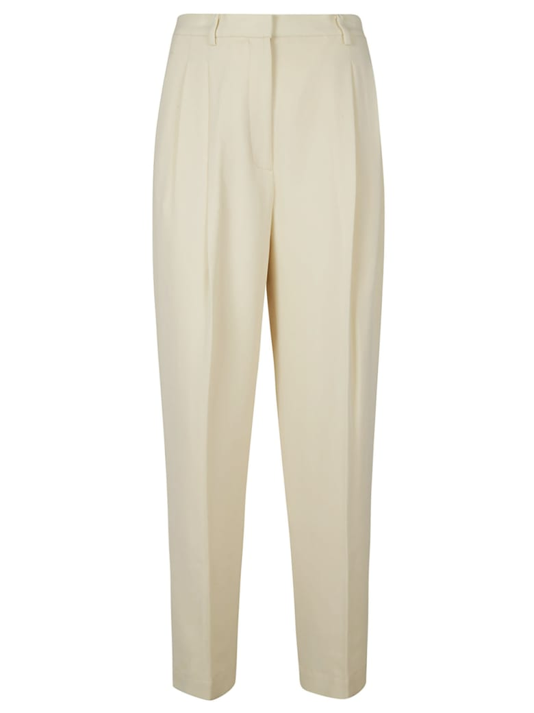 Tory Burch Crepe Trousers - Beige