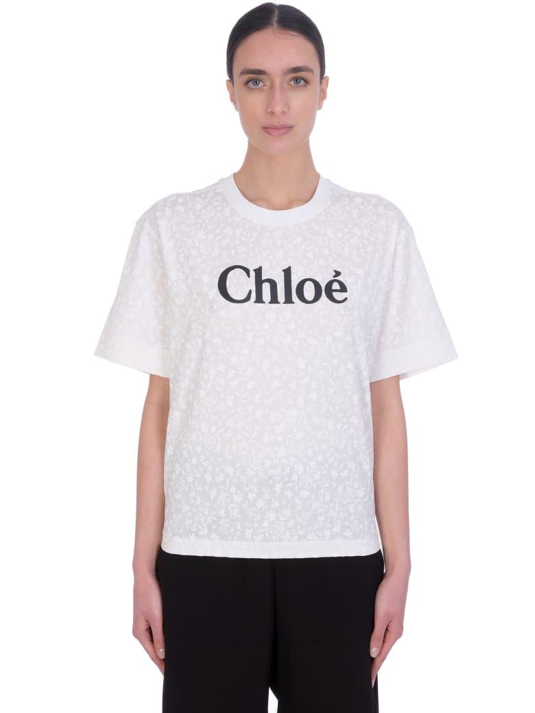 Chloé T-shirt In White Cotton - Bianco