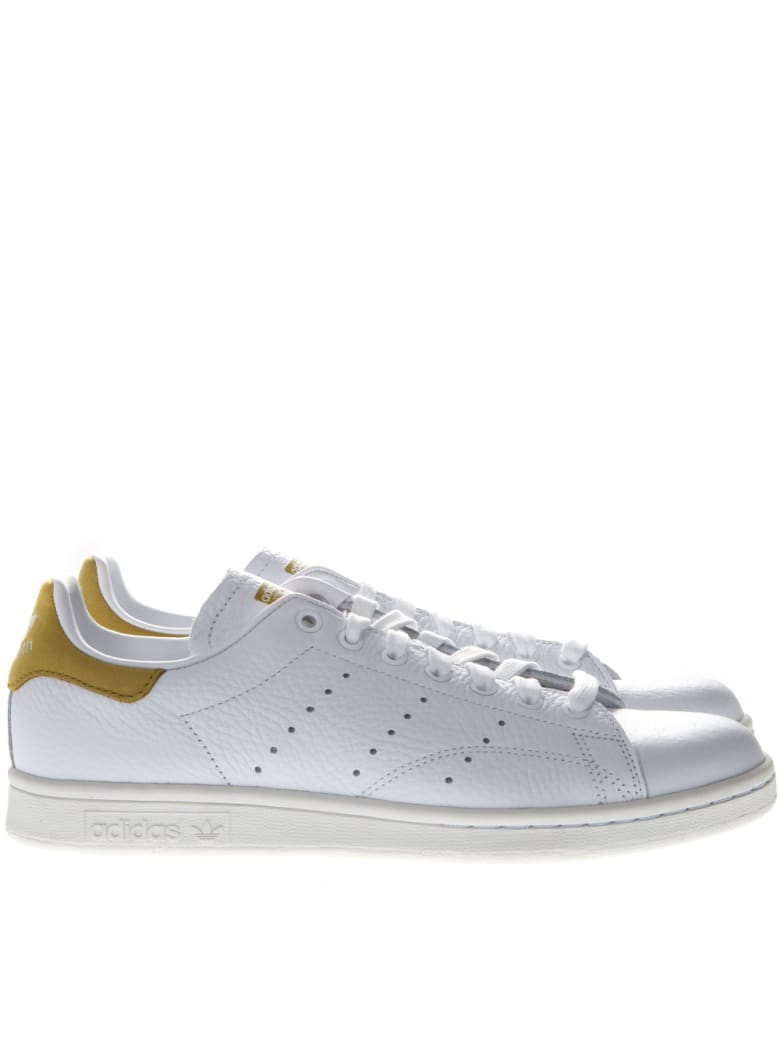 online retailer fca6e dadb8 Best price on the market at italist | Adidas Originals Adidas Originals  Stan Smith White Leather And Gold Suede Sneakers