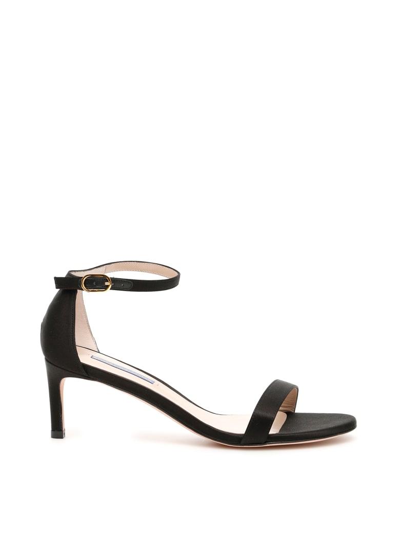 Stuart Weitzman Nunakedstraight Sandals - BLACK (Black)