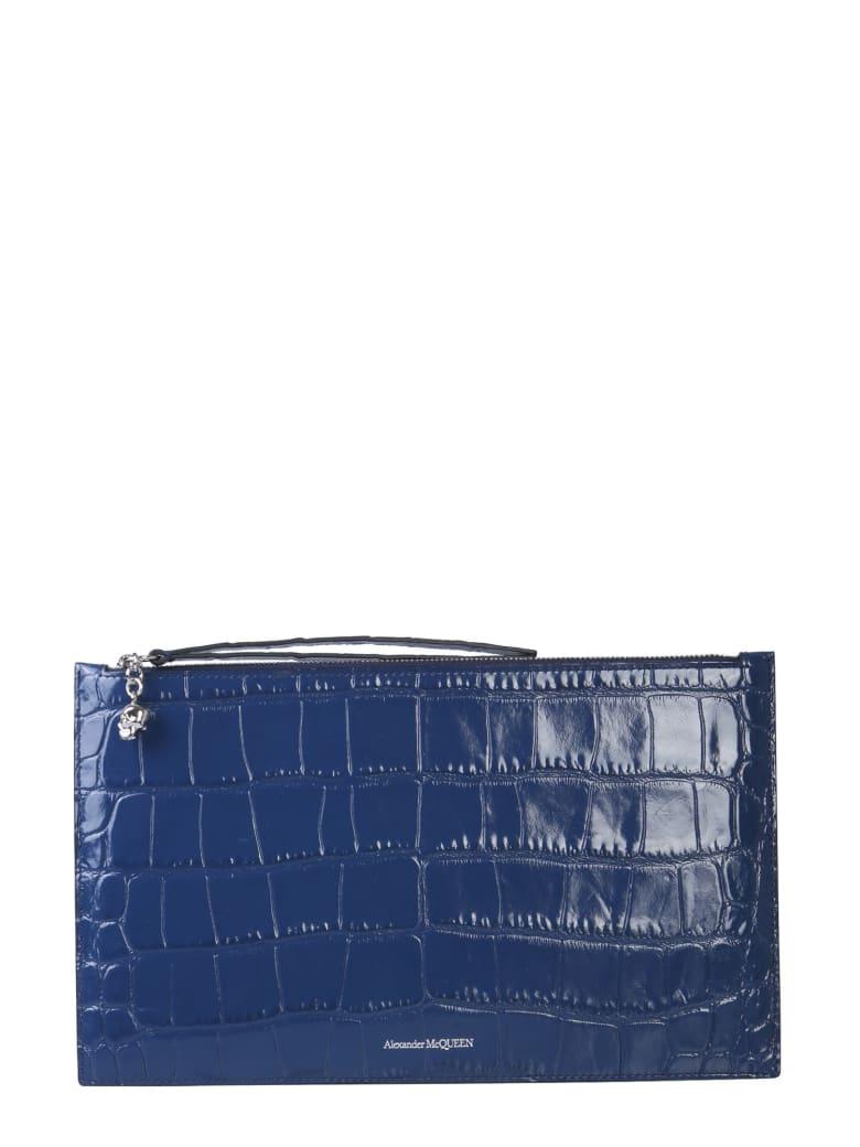 Alexander McQueen Leather Pouch - BLU