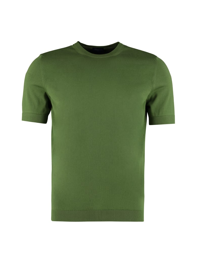 Drumohr Knitted Cotton T-shirt - green