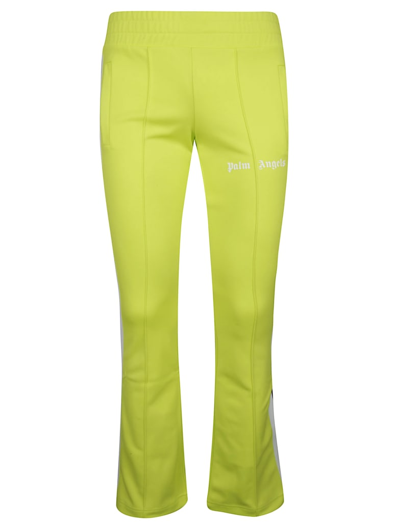 Palm Angels New Skinny Track Pants - Light Green/White