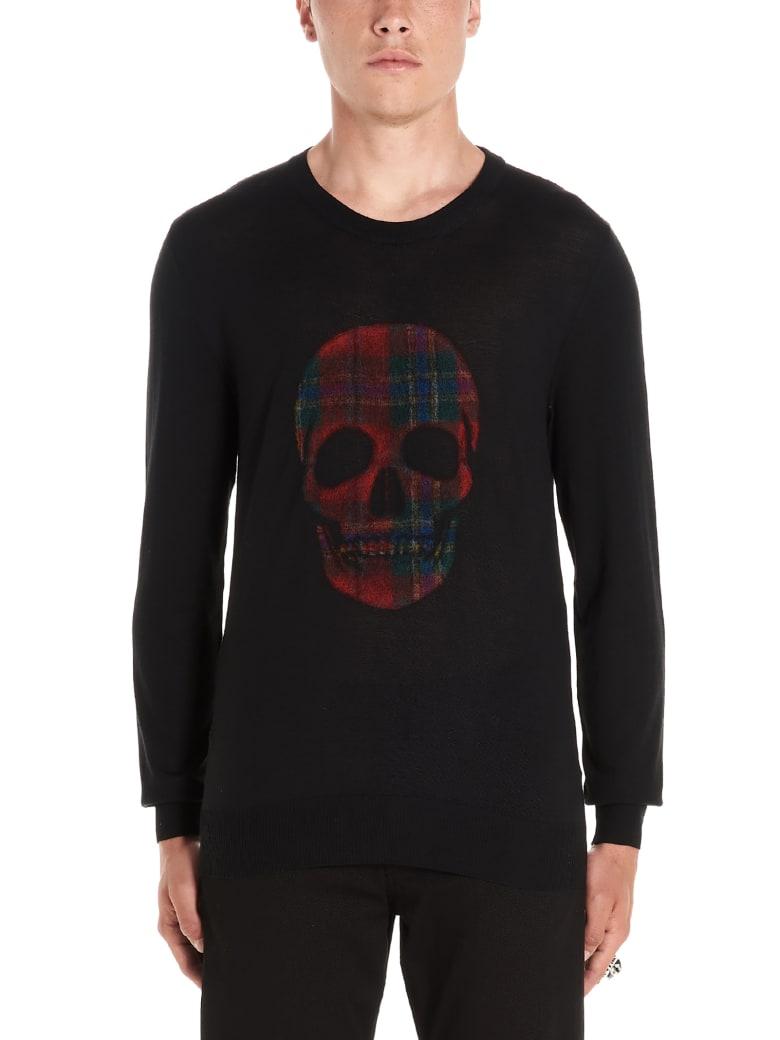 Alexander McQueen 'skull Check' Sweater - Black