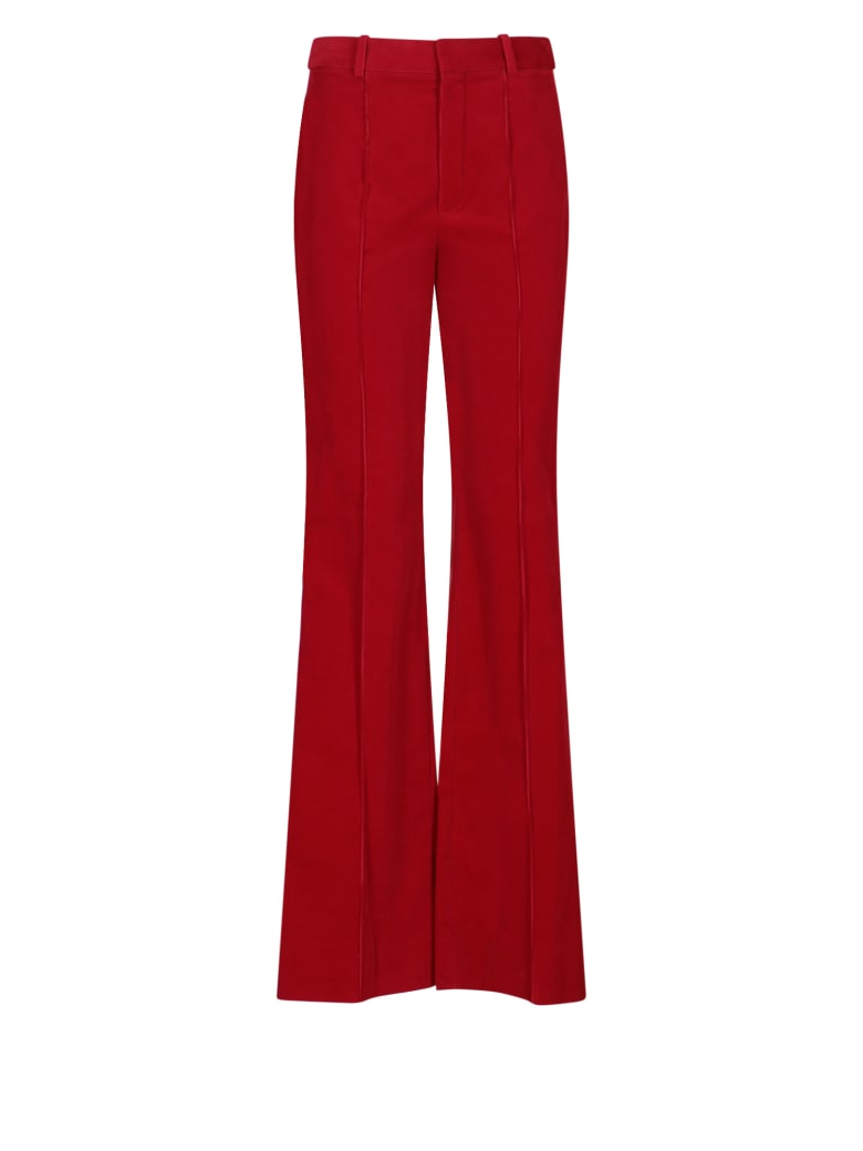 Saint Laurent Trousers - Rosso