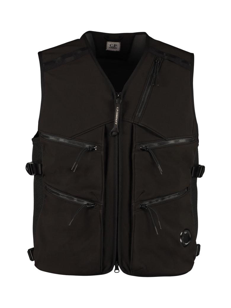 C.P. Company C.p. Shell Techno Fabric Vest - black
