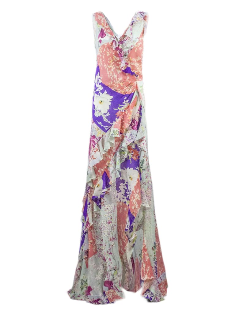 Etro Long Jersey Crepe Dress - Fantasia