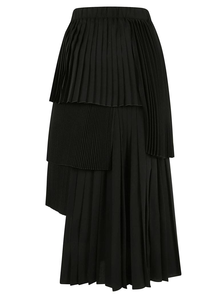 N.21 Pleated Layered Skirt - Nero