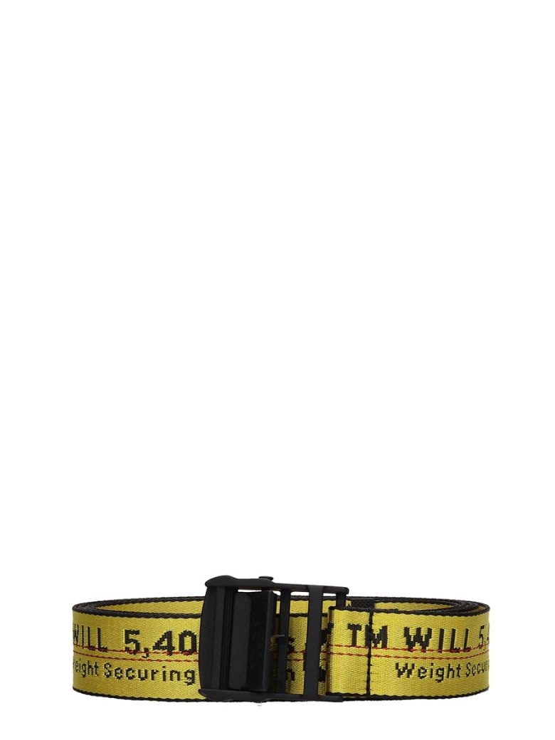 Off-White Industrial Belt Belts In Yellow Tech/synthetic - yellow