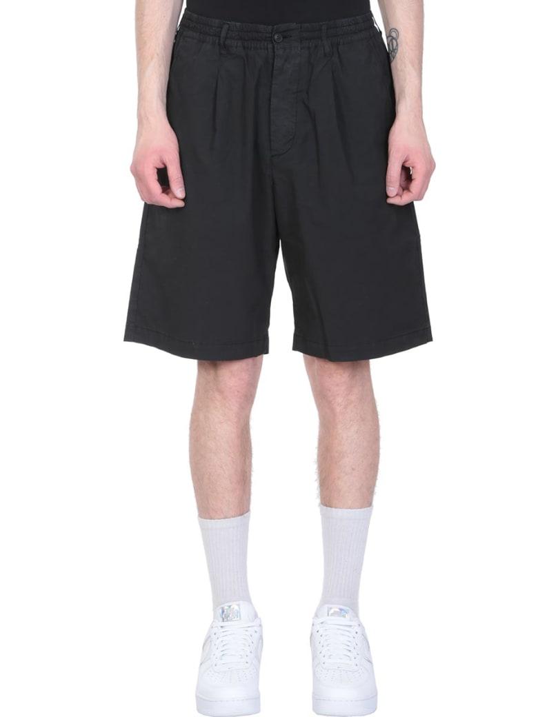 Danilo Paura Black Cotton Shorts - black