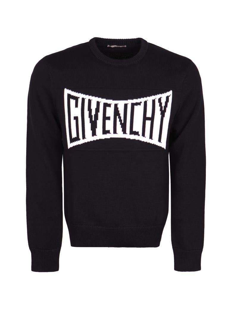 Givenchy Logo Crew-neck Pullover - black