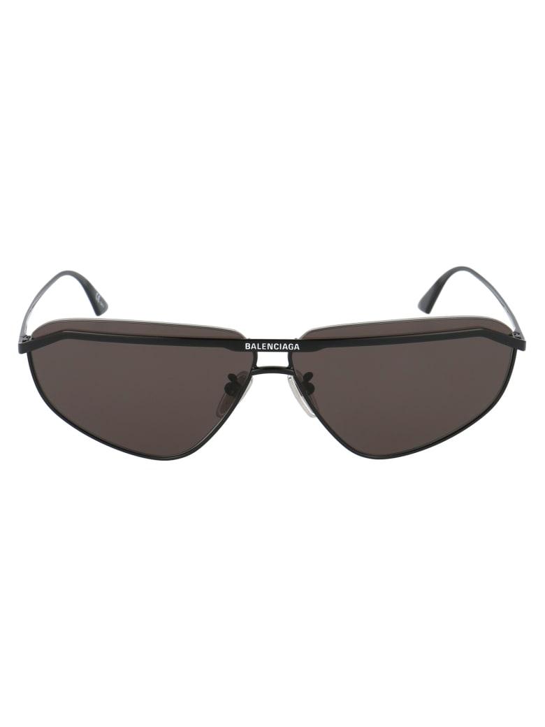 Balenciaga Bb0138s Sunglasses - 001 BLACK BLACK GREY