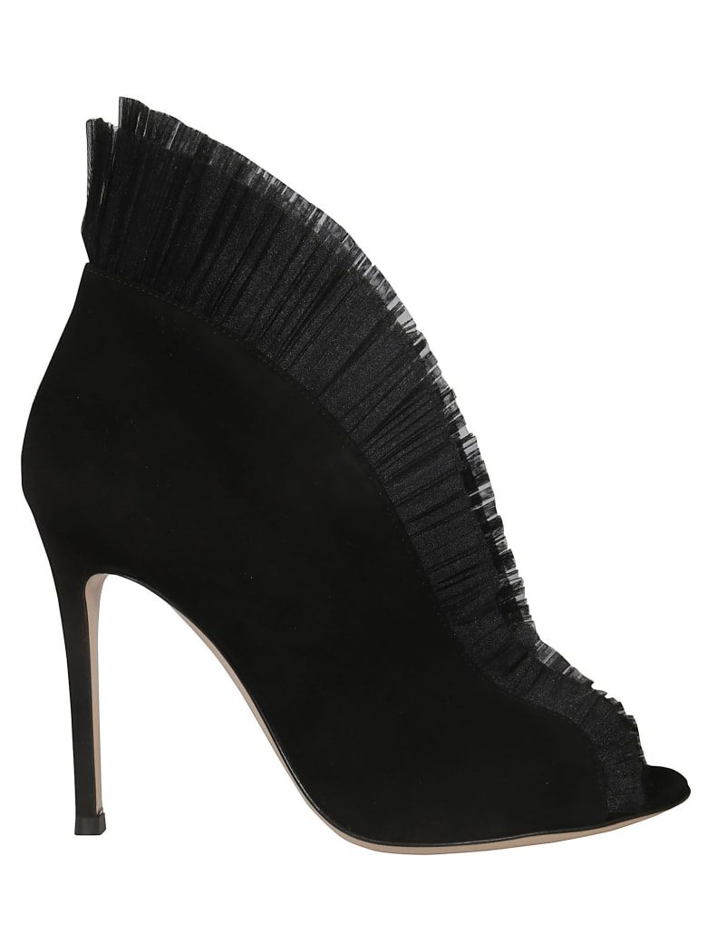 Gianvito Rossi Vamp Ankle Boots - Black