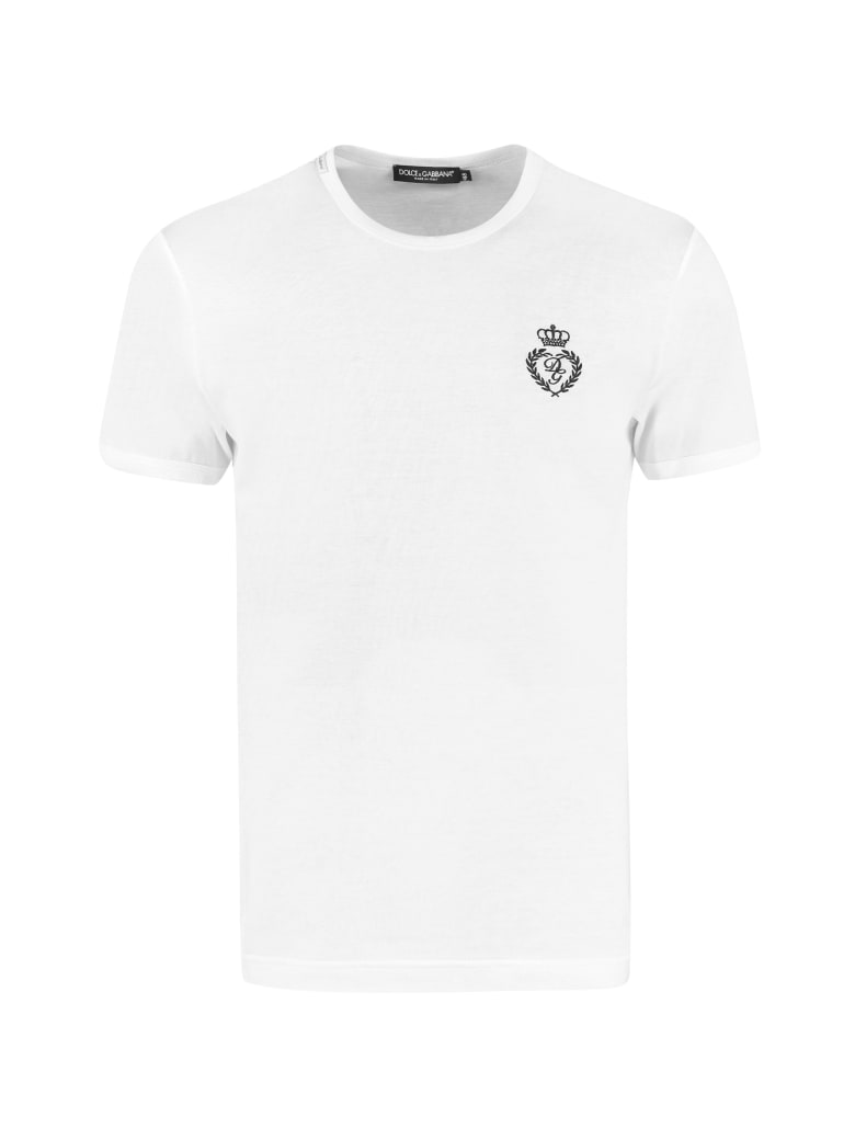 Dolce & Gabbana Cotton Crew-neck T-shirt - White