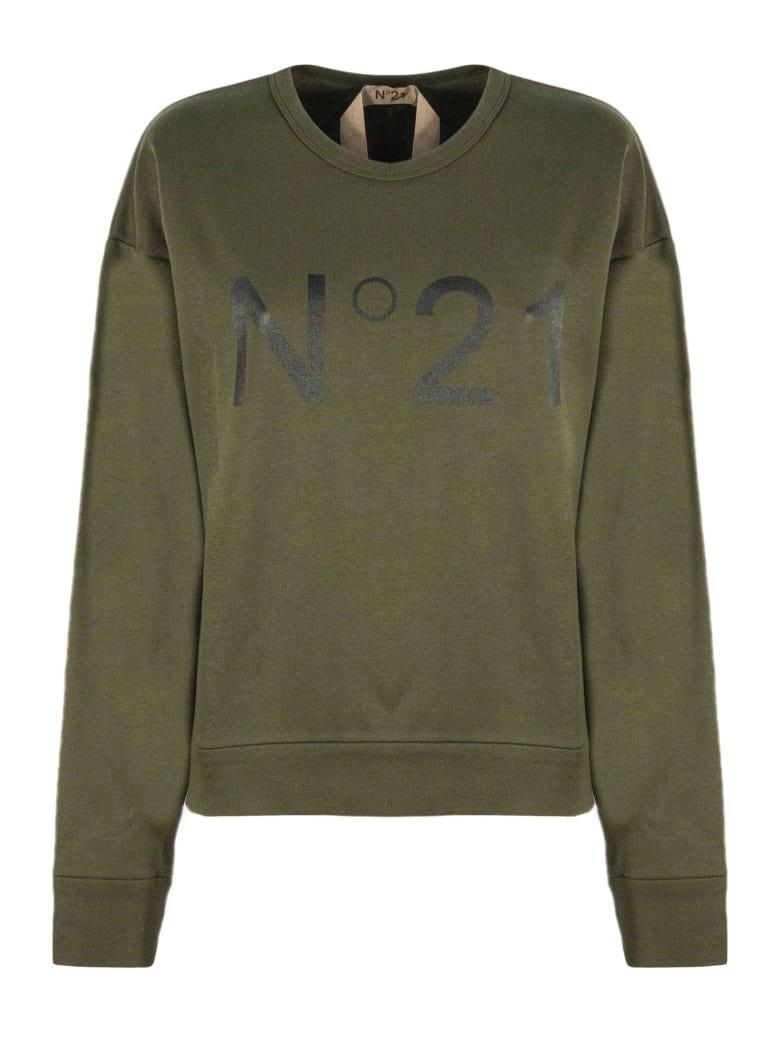 N.21 Green Cotton Sweatshirt - Verde