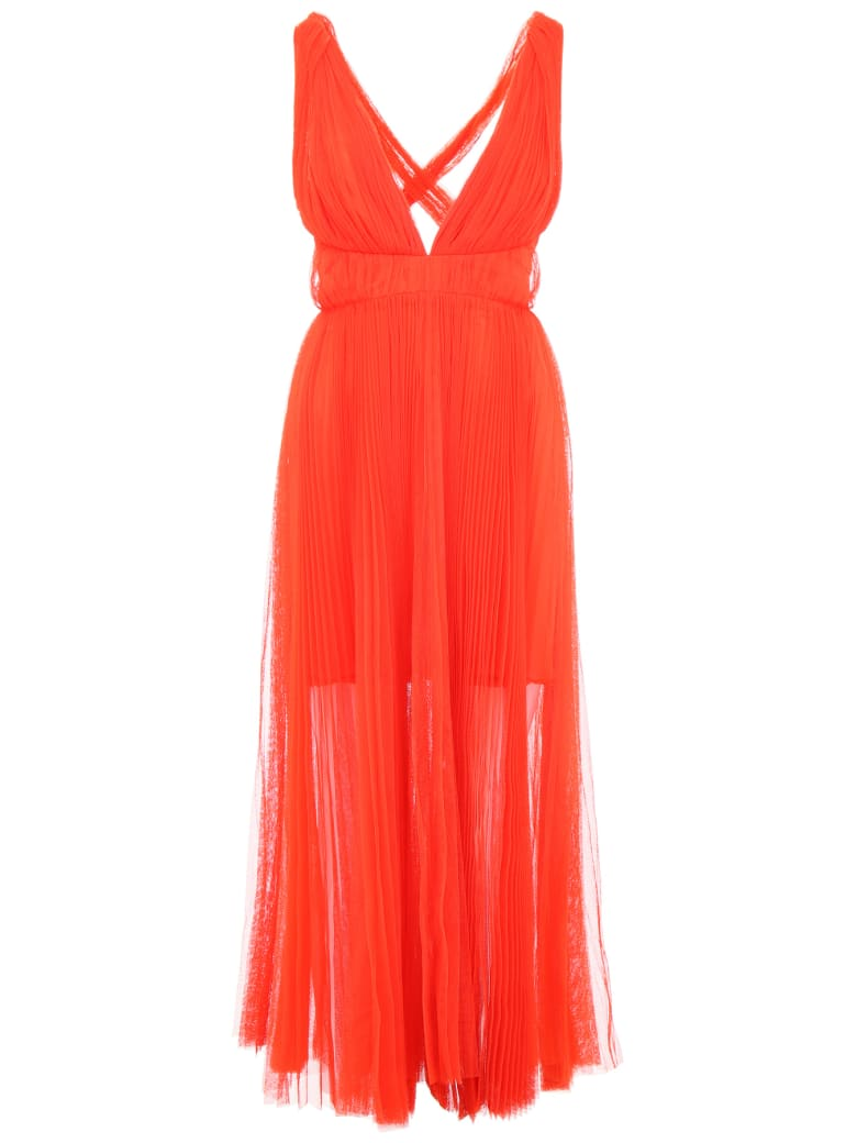 Maria Lucia Hohan Margo Pleated Tulle Dress - GRENADINE (Red)
