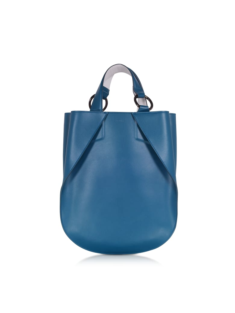 Giaquinto Joss Mini Leather Satchel Bag - Lagoon