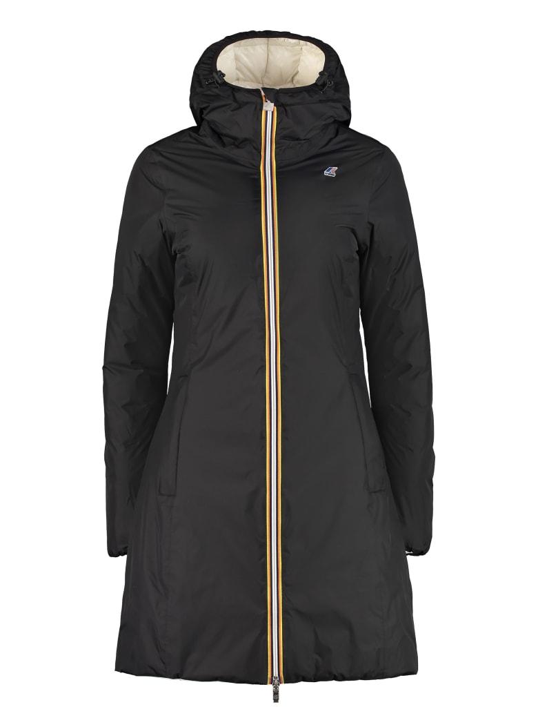 K-Way Charlene Reversible Padded Jacket - black