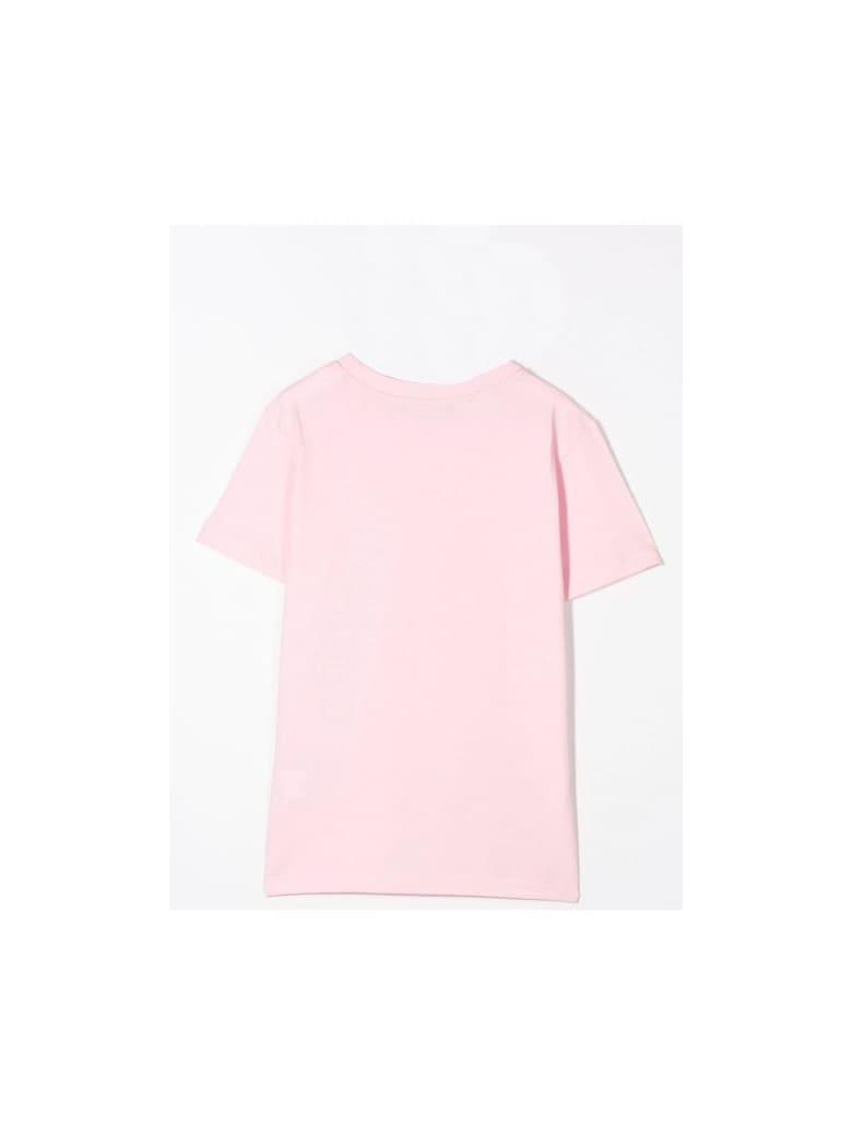 Balmain T-shirt Con Stampa - Pink