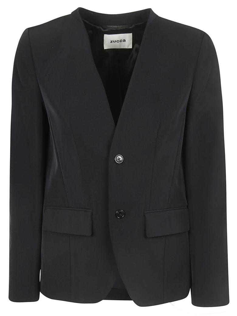 Zucca Collar-less Blazer - Black