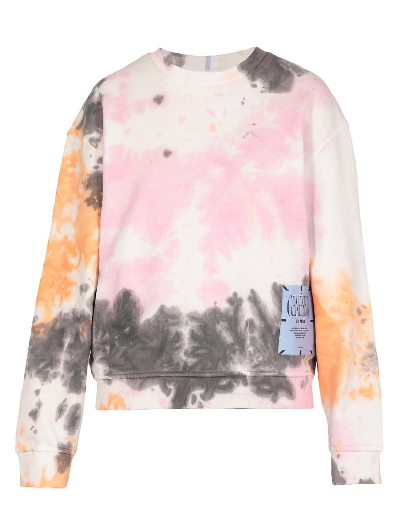 McQ Alexander McQueen Genesis Ii Tie Dye Sweater - BLACK/ORANGE