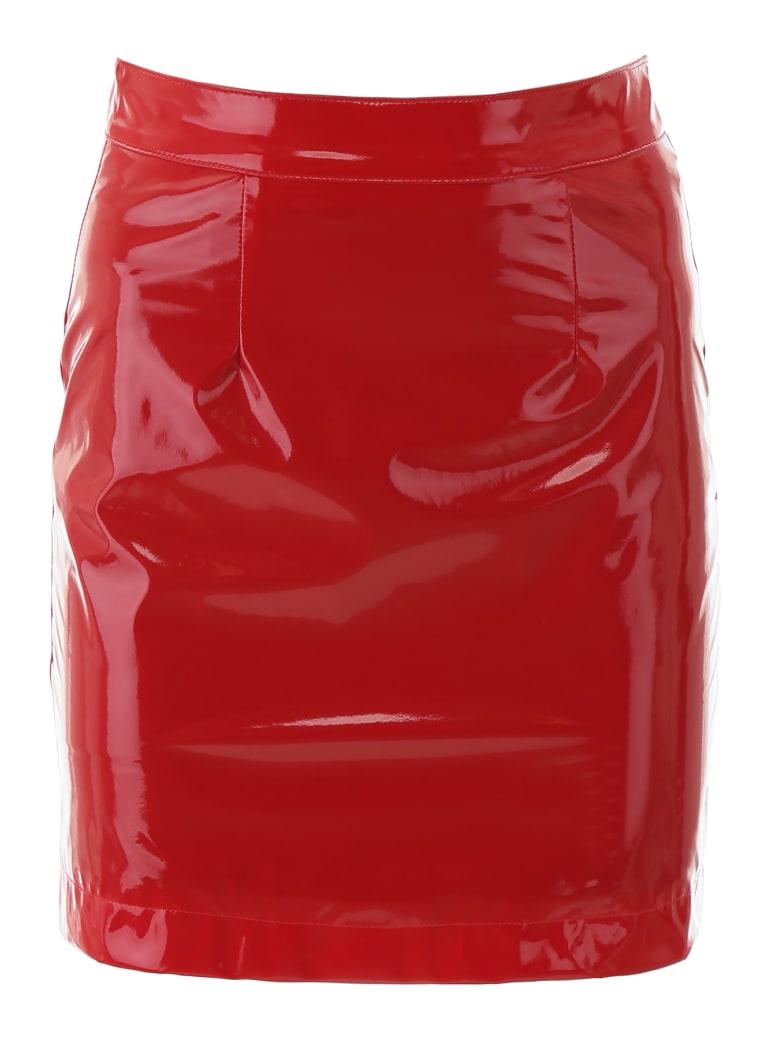 Kirin Vinyl Mini Skirt - RED (Red)
