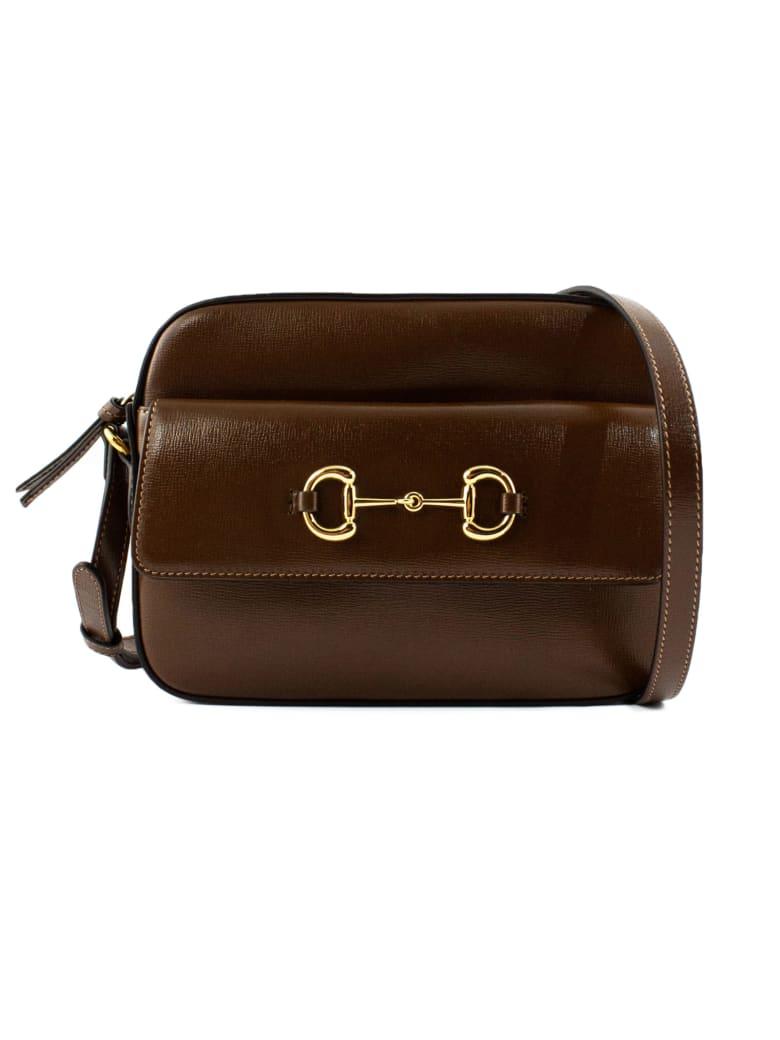 Gucci Gucci Horsebit 1955 Shoulder Bag - Testa Di Moro