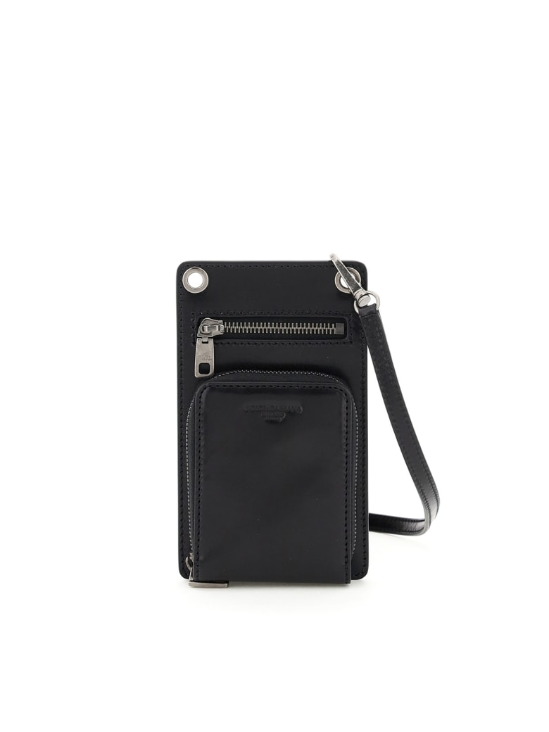 Dolce & Gabbana Phone Pouch With Wallet And Shoulder Strap - NERO (Black)