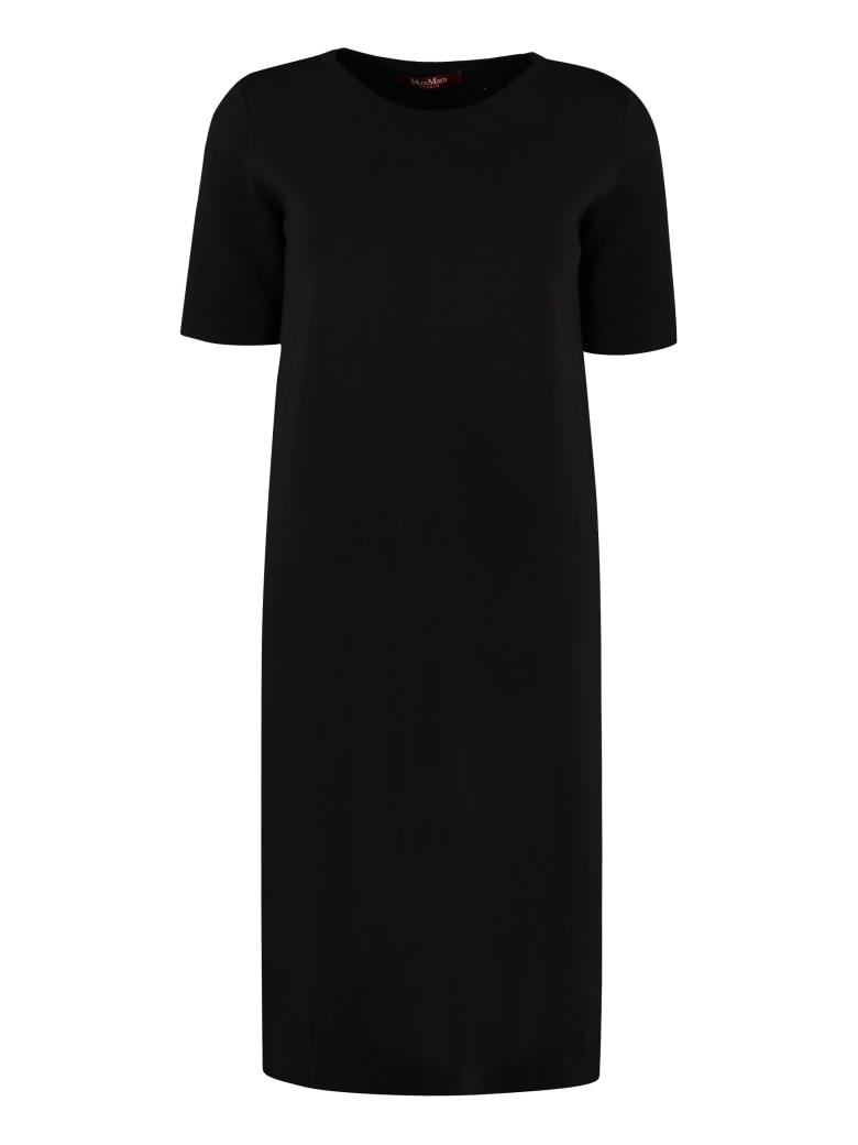 Max Mara Studio Paggi Knitted Dress - black