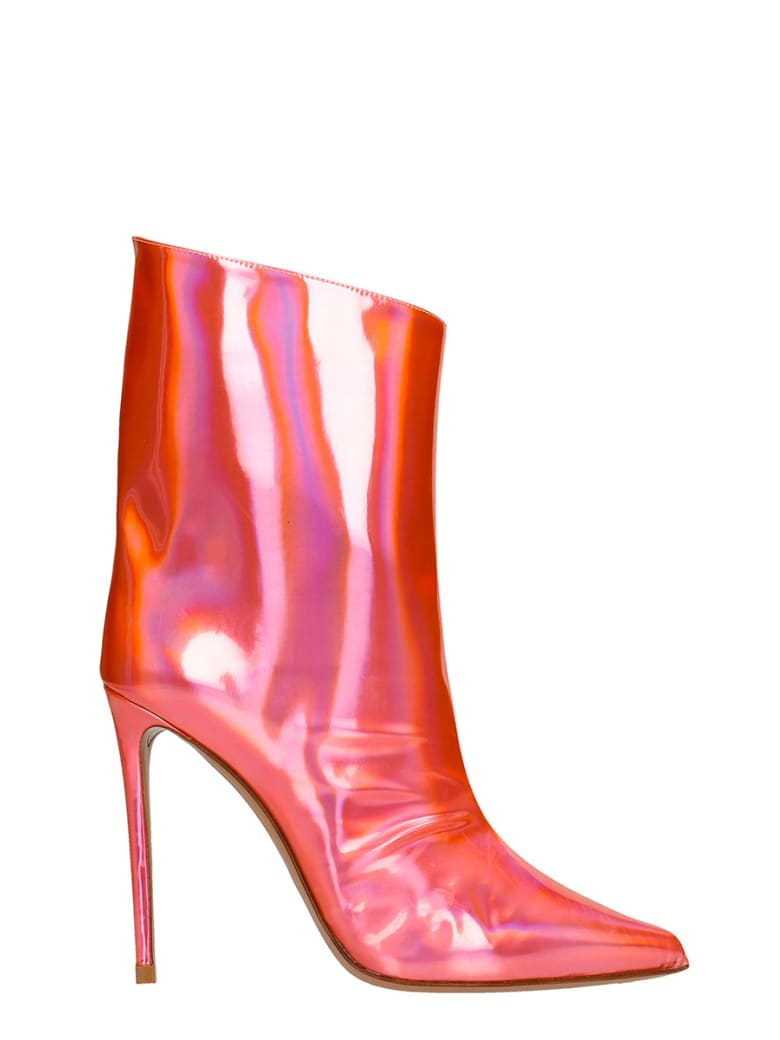 Alexandre Vauthier High Heels Ankle Boots In Red Leather - red