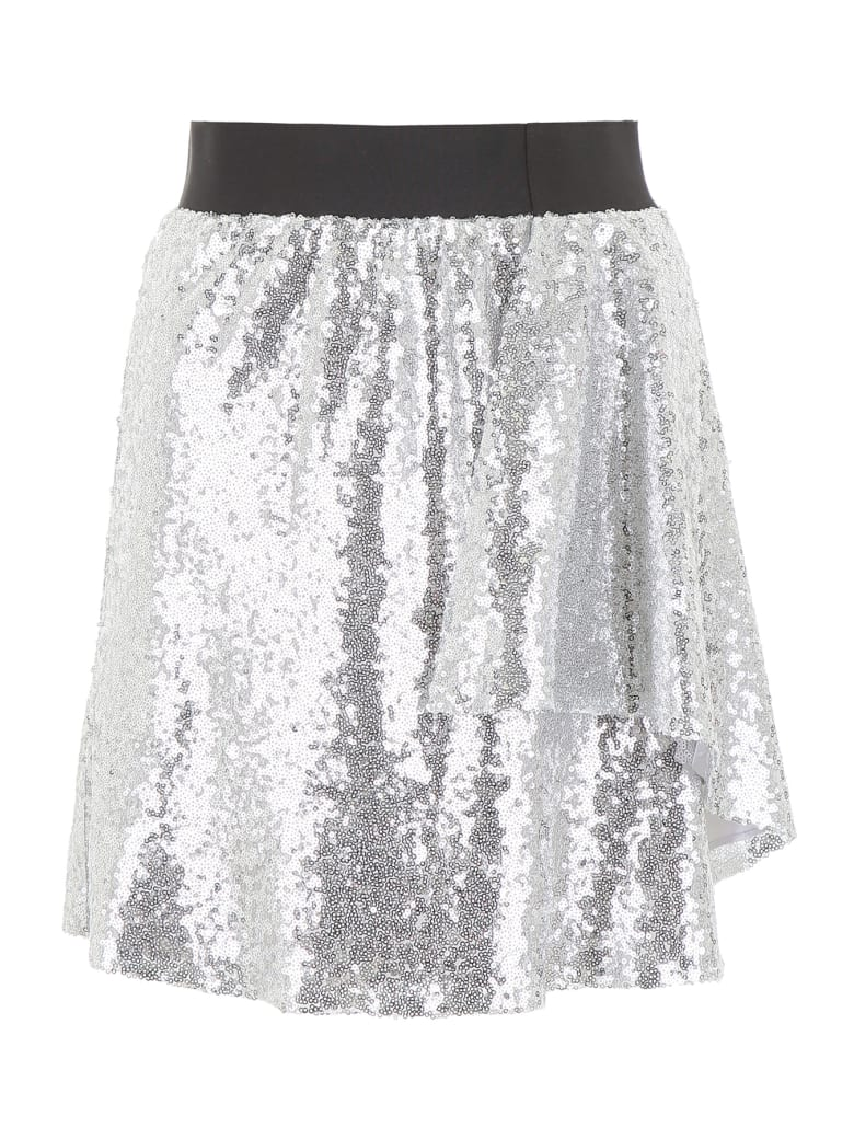 In The Mood For Love Sequins Lindsey Mini Skirt - SILVER (Silver)