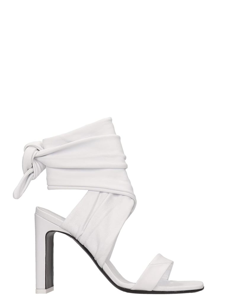 The Attico Sandals In White Tech/synthetic - white