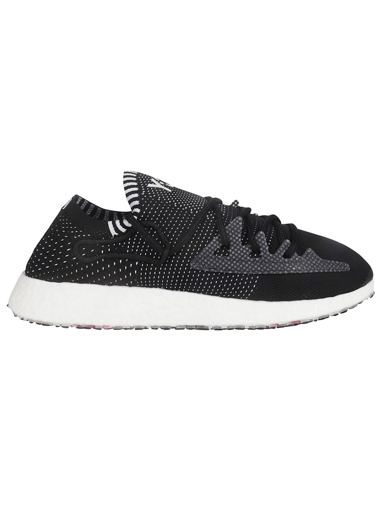 Y-3 Embroidered Logo Low Top Sneakers - Black
