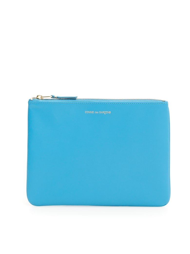 Comme des Garçons Wallet Unisex Classic Pouch - BLUE (Light blue)