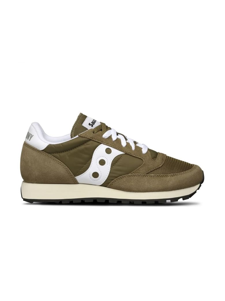 low priced ebba9 e885c Best price on the market at italist | Saucony Saucony Saucony Originals  Jazz O' Vintage Olive Green/white